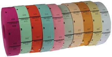 Ticketrollen geassorteerde kleuren