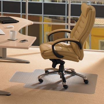 Floortex vloermat Computex, voor tapijt, met uitsparing ft 51 x 25 cm, ft 120 x 90 cm