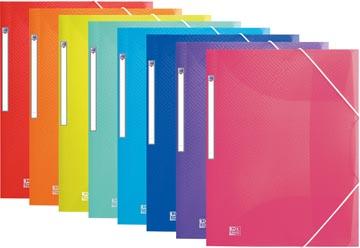 Oxford Urban elastomap, voor ft A4, geassorteerde transparante kleuren