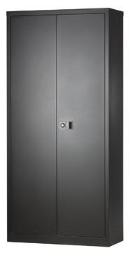 Bisley draaideurkast, ft 195 x 91,4 x 40 cm (h x b x d), 4 legborden, zwart