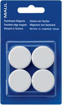 Maul magneet MAULsolid, diameter 20 mm, wit, blister van 8 stuks