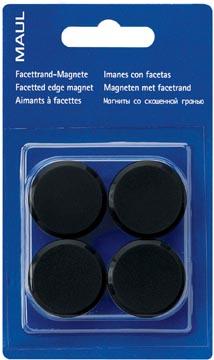 Maul magneet MAULsolid, diameter 32 mm, zwart, blister van 4 stuks