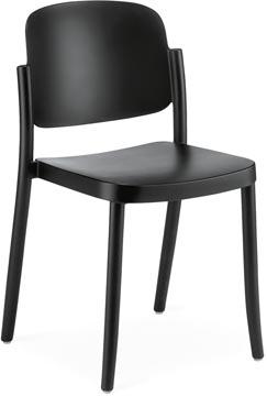 EOL bezoekersstoel Line, polypropyleen, zwart, set van 4 stuks