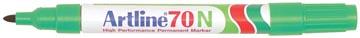 Permanent marker Artline 70 groen