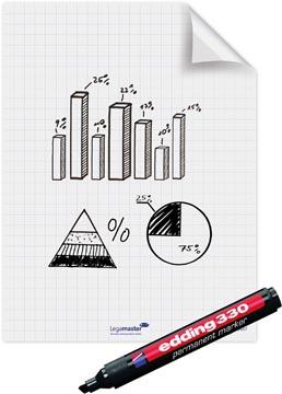 Legamaster Magic-Chart flipchart folie, ft 60 x 80 cm, wit, geruit, rol van 25 vel