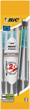 Bic vulpotlood BicMatic Classic blister van 5 stuks