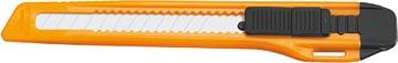 Office cutter, 9mm, zwart/oranje