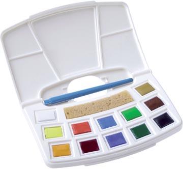 Talens Art Creation aquarelverf, pocketbox met 12 napjes