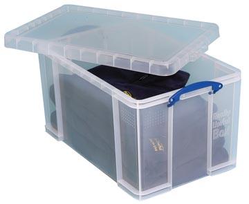 Really Useful Box opbergdoos 84 liter, transparant